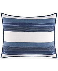 Nautica Briars Cotton 136-Thread Count Navy Standard Sham