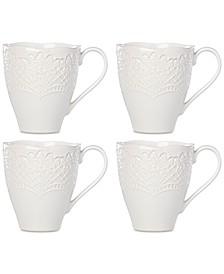 Chelse Muse Scallop Mugs, Set of 4