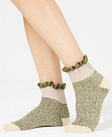 Free People Cedar Heathered Ruffle-Trim Ankle Socks