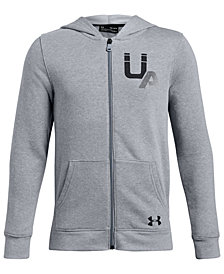 Under Armour Big Boys Rival Logo Full-Zip Hoodie