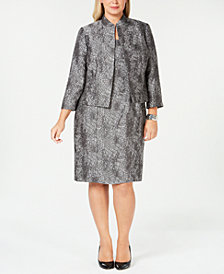 Kasper Plus Size Flyaway Jacket & Dress