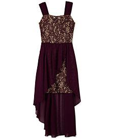 BCX Big Girls Lace Overlay Dress