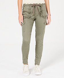 American Rag Juniors' Ruffled Cargo-Pant Joggers, Created for Macy's