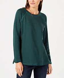 Eileen Fisher Tencel® Side-Slit Tunic Top, Available in Regular & Petite Sizes