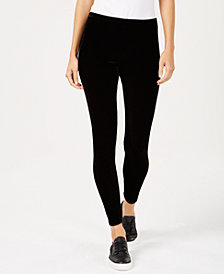 Eileen Fisher Velvet Ankle-Length Leggings, Available in Regular & Petite Sizes