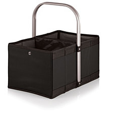 Oniva™ by Picnic Time Black Urban Basket Collapsible Tote