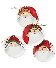 Old St. Nick Assorted Ceramic Ornaments, Set of 4