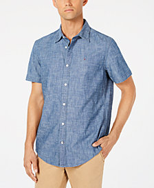 Tommy Hilfiger Men's Custom-Fit Chambray Shirt, Created for Macy's