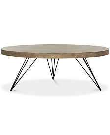 Mansel Round Coffee Table, Quick Ship