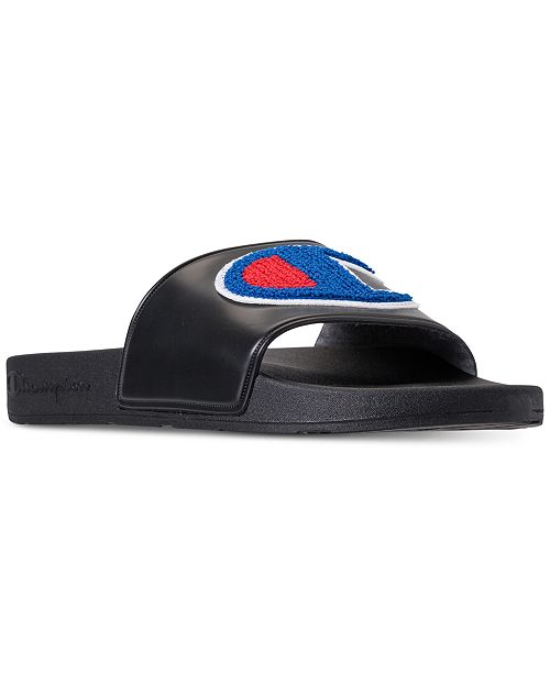 Champion Men's IPO Chenille Slide Sandals from Finish Line