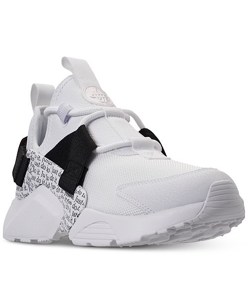 9617d0455a ... Nike Women's Air Huarache City Low Premium Just Do It Casual Sneakers  from Finish ...