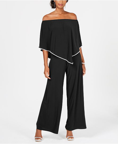 1dcbe623940 MSK Off-The-Shoulder Overlay Jumpsuit   Reviews - Pants   Capris ...
