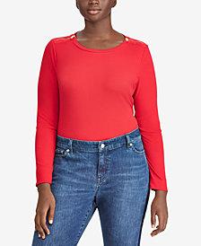 Lauren Ralph Lauren Plus Size Slim Fit Top