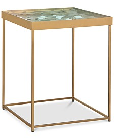 Lilian Leaf Side Table, Quick Ship