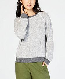 Hippie Rose Juniors' Piped Raglan Sweatshirt