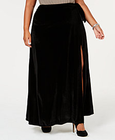 Rebdolls Plus Size Velvet Maxi Skirt from The Workshop at Macy's
