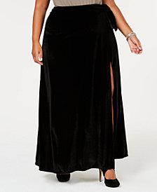 Rebdolls Plus Size Velvet Maxi Skirt from The Workshop at Macy's