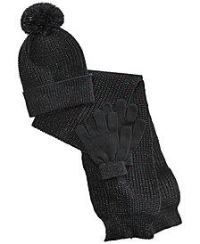 Berkshire Little & Big Girls 3-Pc. Hat, Scarf & Gloves Set