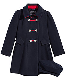 S. Rothschild Toddler Girls Bandmaster Coat with Hat