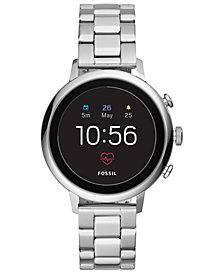 Fossil Q Women's Venture HR Stainless Steel Bracelet Touchscreen Smart Watch 40mm