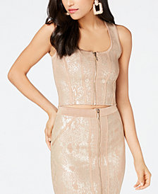 GUESS Mirage Metallic Crop Top