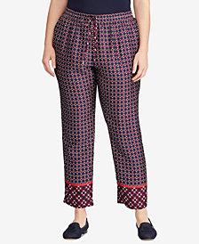Lauren Ralph Lauren Plus Size Geo-Print Twill Pants