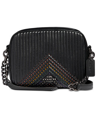 2b3cdc942912 COACH Embellished Quilted Leather Camera Bag   Reviews - Handbags    Accessories - Macy s