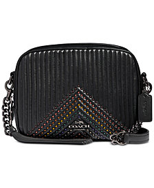 COACH Embellished Quilted Leather Camera Bag