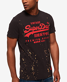 Superdry Men's Premium Goods Paint-Splatter Logo Graphic T-Shirt
