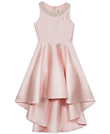 Rare Editions Big Girls Embellished-Neck Dress