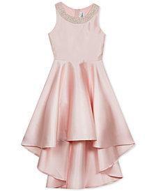 Rare Editions Big Girls Embellished-Neck Dress
