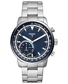 Fossil Q Men's Goodwin Stainless Steel Bracelet Hybrid Smart Watch 44mm