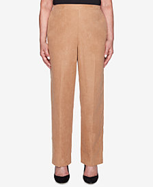 Alfred Dunner Petite News Flash Straight-Leg Pants
