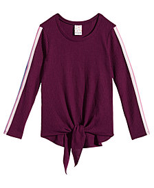 Belle Du Jour Big Girls Tie-Front Top