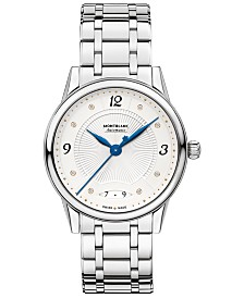 Montblanc Women's Swiss Automatic Bohème Stainless Steel Bracelet Watch 34mm
