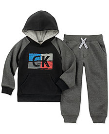 Calvin Klein Little Boys 2-Pc. Raglan Hoodie & Jogger Pants Set
