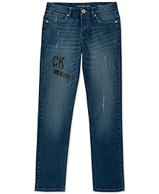 Calvin Klein Big Boys Marked Logo Skinny Jeans