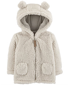 Carter's Baby Girls or Boys Fleece Hooded Jacket