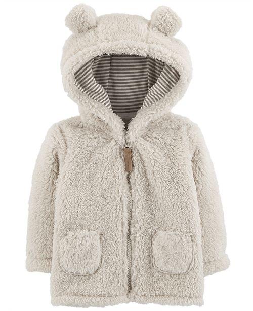 de6ccb238 Carter's Baby Girls or Boys Fleece Hooded Jacket & Reviews - Coats ...