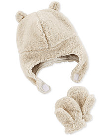Carter's Baby Boys or Girls 12-18M Fleece Hat & Mitten Set