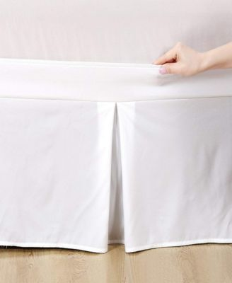 Microfiber Tailored Bed-Skirt Abrasion Resistant, Quadruple Pleated  - King