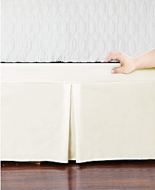 Microfiber Tailored Bed-Skirt Abrasion Resistant, Quadruple Pleated