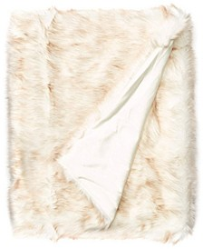 Faux Fur Throw Blanket, Super Soft Fuzzy Light Weight Luxurious - 50 x 60
