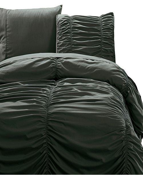 De Moocci Romantic Ruched Pleat 8-Piece Luxury Unique Comforter Set - Premium Hypoallergenic All Season  - California King