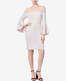 Betsey Johnson Off-The-Shoulder Bell-Sleeve Dress