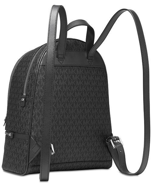 8c564ced0e86 Michael Kors Signature Rhea Zip Medium Backpack   Reviews - Handbags ...