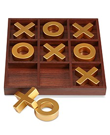 10-piece Wooden Tic-Tac-Toe Set