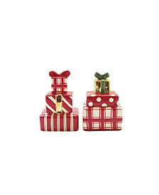 American Atelier Mistletoe Memories Presents Ceramic Salt & Pepper Shaker Set, Created for Macy's