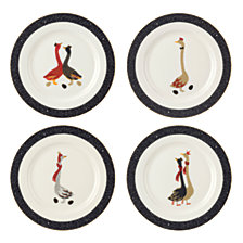 CLOSEOUT! Sara Miller Christmas Geese Set of 4 Salad Plates
