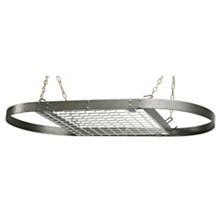 Range Kleen Grey Hammered Oval Ceiling Pot Rack